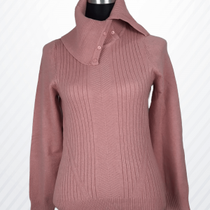 Collar Button Woman Sweaters