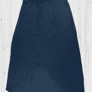 Viscose Skirt-LTSKT-3 Navy Blue