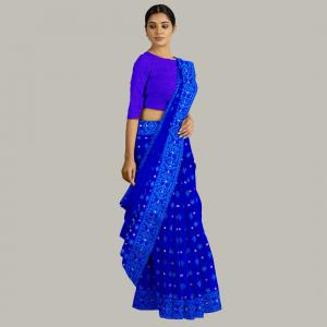নীল জামদানি শাড়ী SSE 19