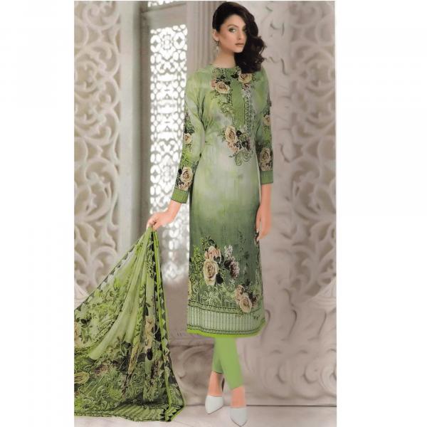 Gul Ahmed Salwar Suits-Green