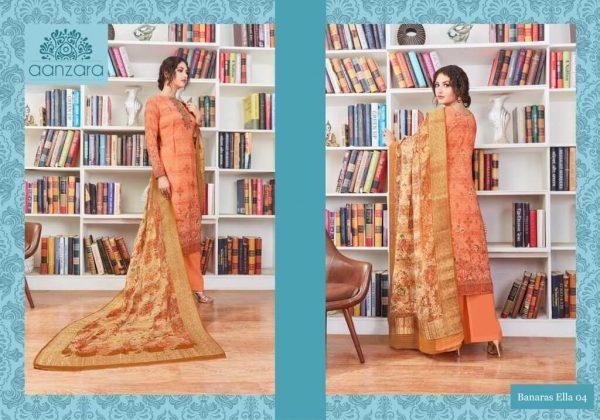 Aanzara Banaras Ella Georgette Printed Salwar Kameez-04